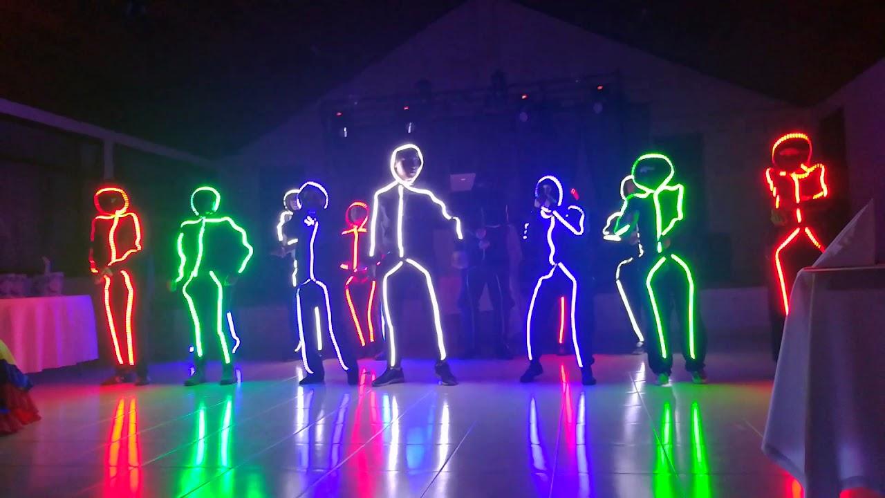 Baile Trajes Luces Led - YouTube