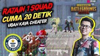 GOKIL !! RATAIN 1 SQUAD CUMA 20 DETIK UDAH KAYA CHEATER !!! - PUBG MOBILE INDONESIA