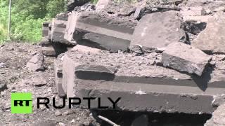 Ukraine: Road-bridge Blown Up In Donetsk Region