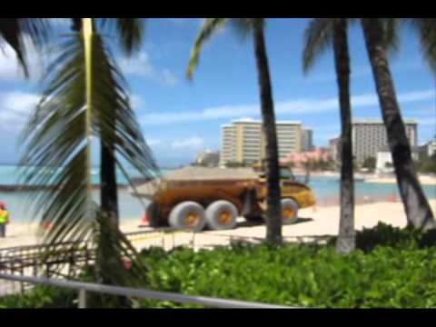 Waikiki Beach Sand Reclamation Project - Spring 2012