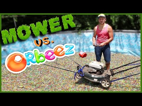 Thumbnail: MOWING A POOL FULL OF ORBEEZ!