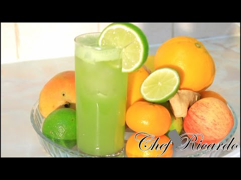 Cucumber Juice With Ginger , Lime & Honey. | Recipes By Chef Ricardo