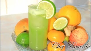 Cucumber juice with ginger , lime & honey. Chef Ricardo Cooking