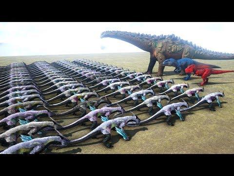 100 Managarmr VS ARK Dinosaurs   Cantex