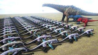100 Managarmr VS ARK Dinosaurs | Cantex