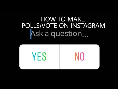 HOW TO MAKE POLLS/VOTE ON INSTAGRAM