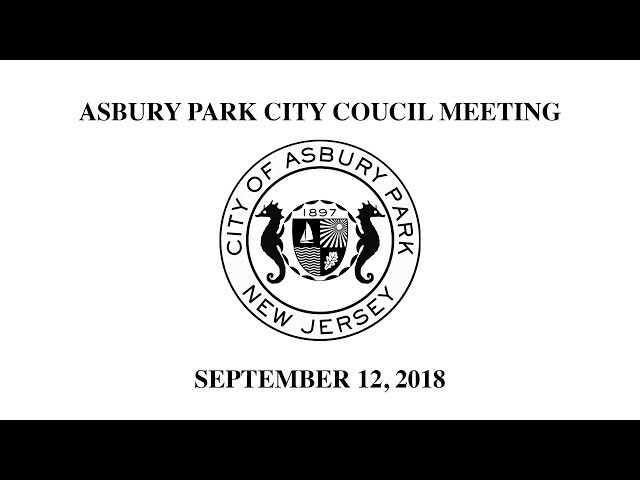 Asbury Park City Council Meeting - Sept. 12, 2018