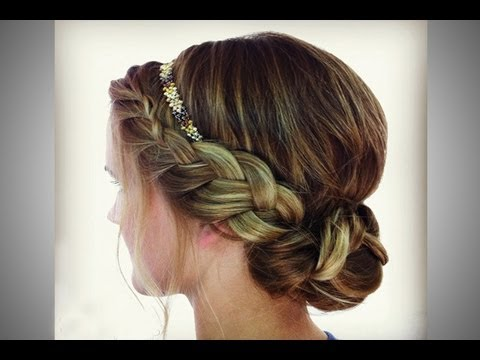 Braided Headband Updo Youtube