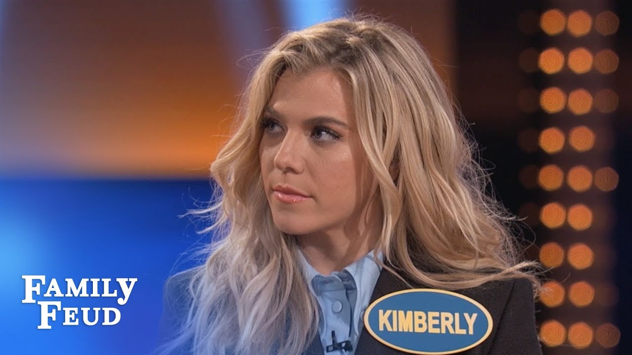 The Band Perry's Kimberly KILLS on Fast Money   Celebrity Family Feud   OUTTAKE