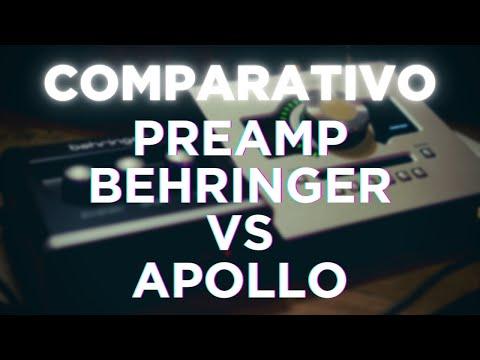 COMPARATIVO - Preamp Behringer VS Apollo (SURPREENDA-SE)