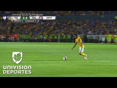 ¡GO-LA-ZO! Aquino marcó el gol de su vida para Tigres
