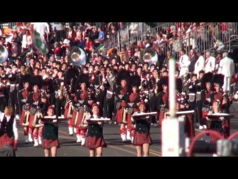 Glendora HS Tartan Band & Pageantry  2014 Pasadena Rose Parade