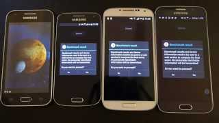 Benchmark Samsung Galaxy S6 vs. Galaxy S4 vs. Galaxy S4 Mini vs. Galaxy J1