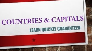 Best Trick Countries and Capitals