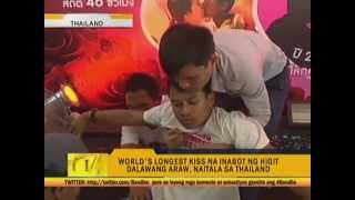 Thai couple breaks world record for longest kiss