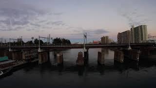 阪急電車の旅(4K) 番外篇 なくなりつつある北千里線神崎川鉄橋