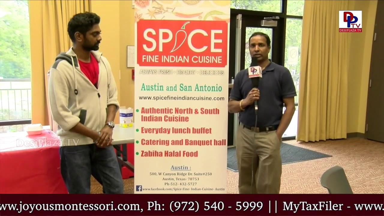 Sangameshwar, Spice Restaurant,Austin & SanAntonio speaks to DPTV - Navrus School of Performing Arts