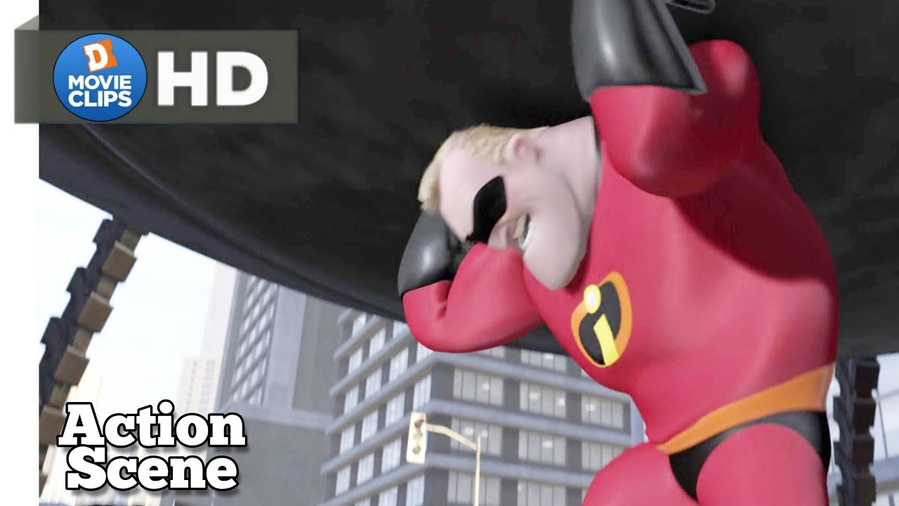 The Incredibles Hindi 10 12 Robot Attack The City Action Scene Movieclips Youtube