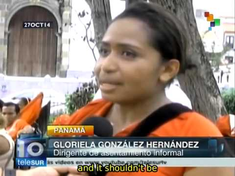 Panamanians demand titles to their lands from the government