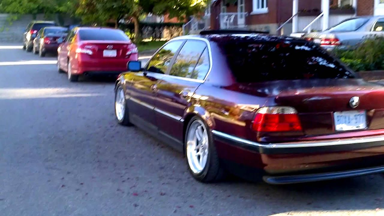 mint bmw e38 740i 1998 lowered on st coilovers youtube. Black Bedroom Furniture Sets. Home Design Ideas