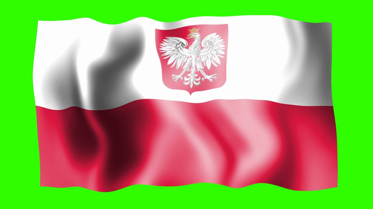 poland waving flag green screen animation youtube