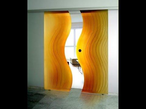 Очень красивые стеклянные двери - дизайн интерьера из стекла