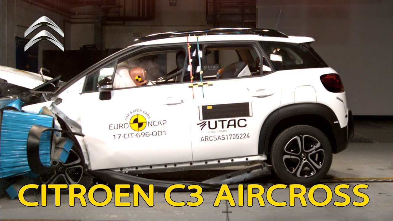 citroen c3 aircross crash test euro ncap youtube. Black Bedroom Furniture Sets. Home Design Ideas