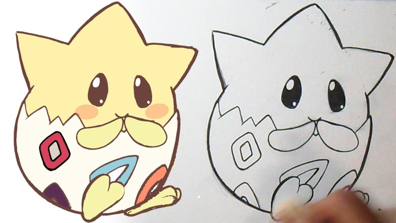 Dibujos Para Colorear De Charmander: Cómo Dibujar Pokémon Togepi Kawaii