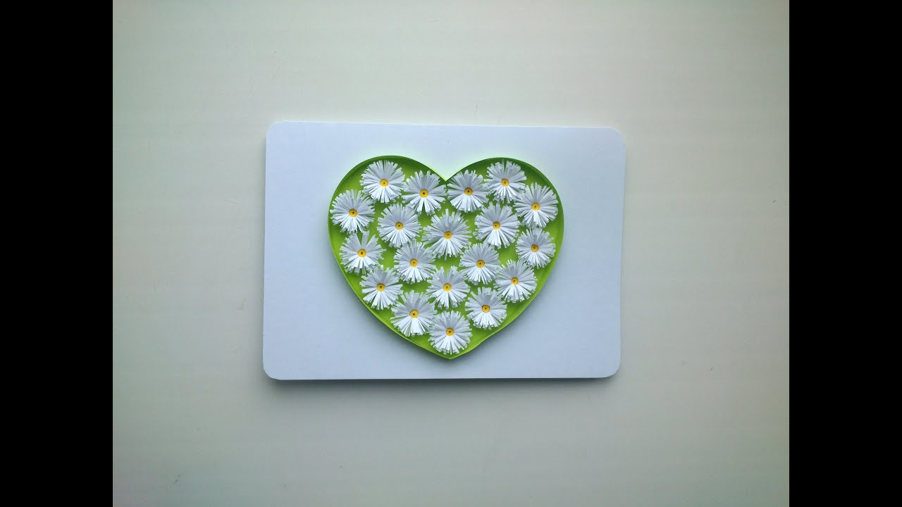 Paper Valentines Day cards make paper Quilling Valentines Day – Valentines Day Heart Card