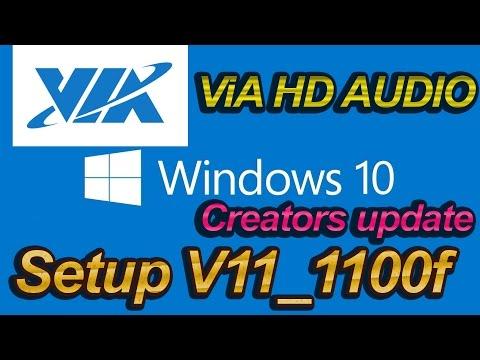 VIA HD AUDIO Windows 10 Creators Update  Установка