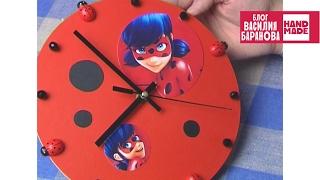 Часы настенные «Леди Баг» / Clock «Ladybug» / ПОДЕЛКА(, 2016-06-10T03:30:24.000Z)