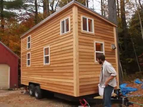 pretty tiny house trailers.  Sherwood Tiny House on a Trailer YouTube