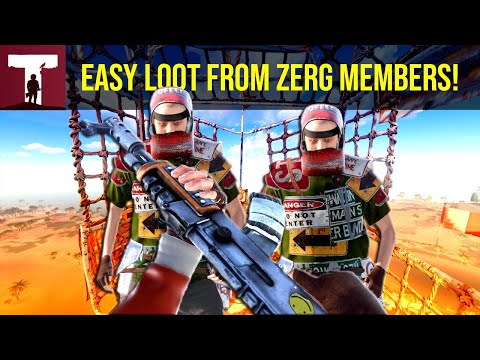 DESTROYING CHINESE ZERG MEMBERS FOR EASY LOOT! (Rust) thumbnail