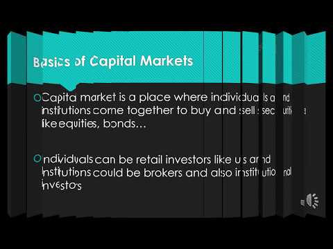 Learn Basics of Capital Markets in 3 Minutes