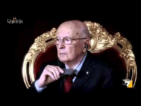 La gabbia - IL MANOVRATORE RE GIORGIO NAPOLITANO (16/10/2013)
