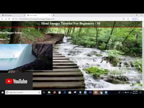 Html Images Tutorial | Html Tutorial For Beginners - 10 | How To Set Background Image In Html & Css thumbnail