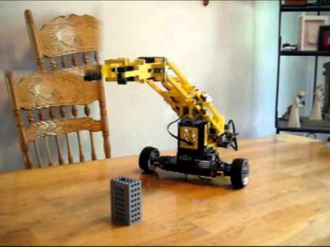 how to make a robotic arm with lego