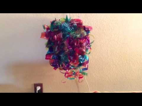 Recycled Bottle Chandelier Project