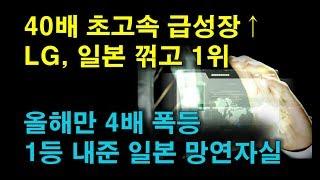 40배 급성장 분야~ LG, 일본 누르고 1위 달성! 일본 망연자실