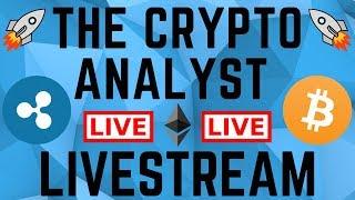 LIVE Bitcoin + Altcoin Technical Analysis: BTC Bull Flag Forming!