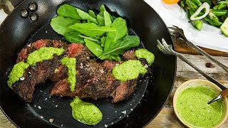 Recipe - Pace WebbÍs Hanger Steak with Green Harissa Sauce - Hallmark Channel