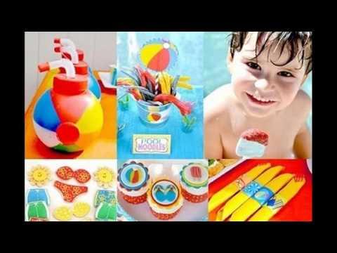 Ideas De Decoración De Fiesta En La Piscina De Los Niños De