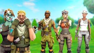 Vado in Squad con NO SKIN e poi mostrare il mio GHOUL TROOPER..! (Fortnite) con V Skill RDW
