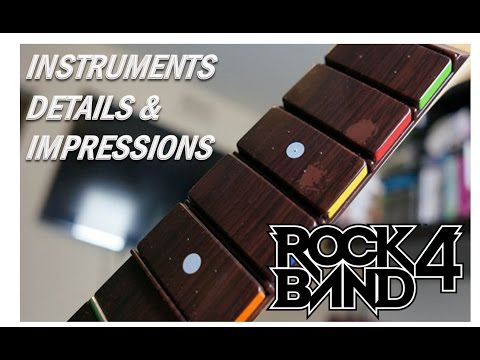 Rock Band 4 Madcatz Instruments (Guitar, Drums, Vocals) & Hardware Impressions