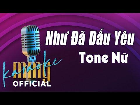Như Đã Dấu Yêu (Karaoke Tone Nữ) | Hát với MMG Band