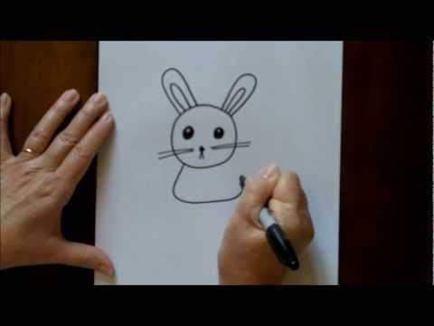 How To Draw Cartoon Rabbit Bunny Step By Step Beginners Drawing Tutorial