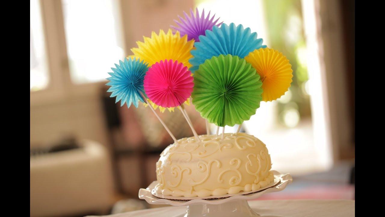Paper Flowers Cake Topper