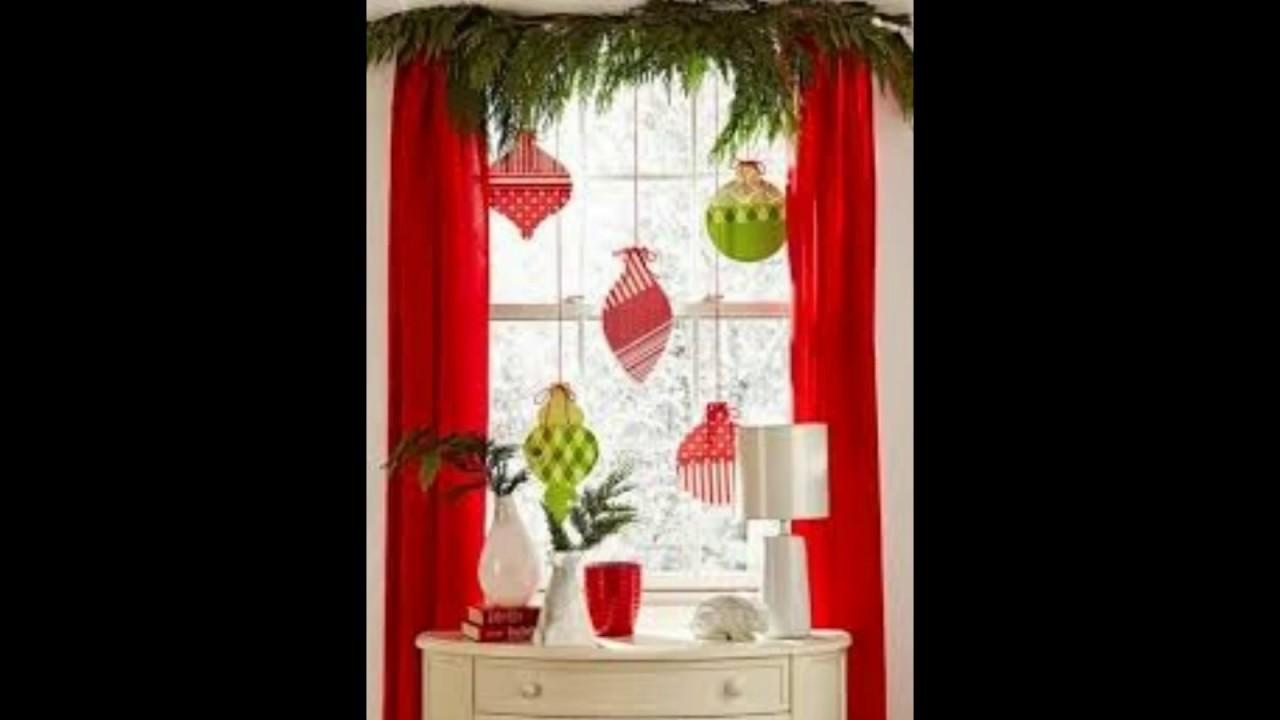Ideas para decorar ventanas en navidad youtube for Como adornar ventanas y puertas de navidad