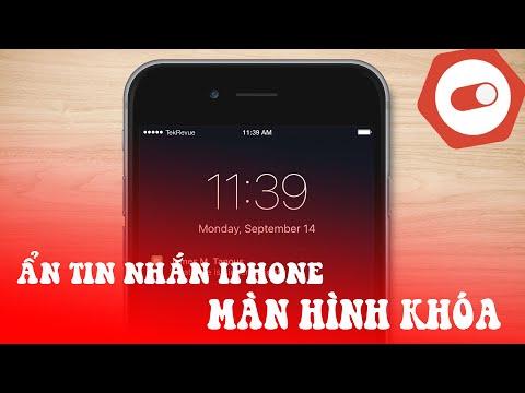 Cách ẩn tin nhắn trên màn hình iPhone 4 5 6 6s Plus 7