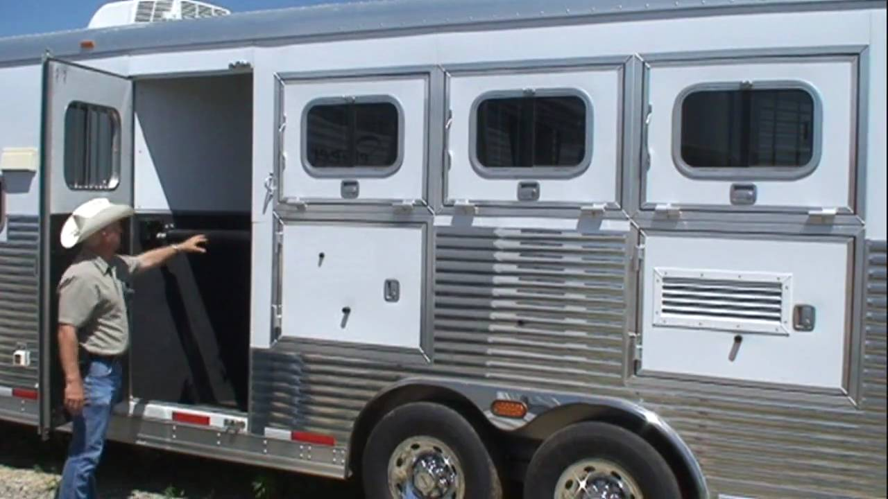 Sooner LQ Horse Trailer Walk Through Guide   YouTube